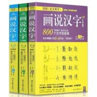 图解说文解字画说汉字(小学版)(共3册)儿童学生学习说文解字 1-2年级3-4年级5-6年级