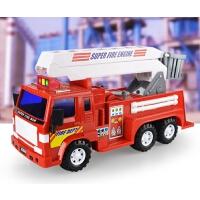 大号惯性工程车儿童模型玩具汽车大型云梯车消防车救火车模型