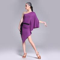 2017新款练功服舞蹈服 拉丁舞服装女大人套装 紫 色