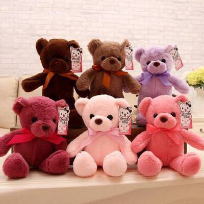 小号泰迪熊公仔布娃娃机毛绒玩具批发迷你小熊公仔抱抱熊玩偶女生 柔顺面料 表情丰富 家居摆件 沙发装饰