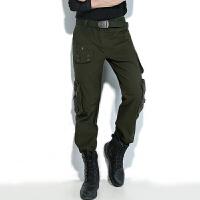 厚款休闲裤多口袋工装长裤女户外大码直筒军工装迷彩情侣