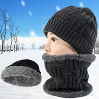 男士套头帽子围脖冬季户外加绒毛线帽护耳帽保暖加厚防风帽子脖套