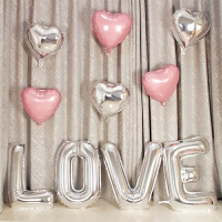 大号LOVE铝膜字母气球生日背景墙装饰婚房结婚婚礼求婚派对布置