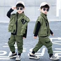 男童秋装套装工装三件套儿童春秋新款帅气童装