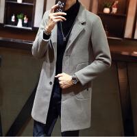 呢子大衣男中长款韩版潮流帅气青年修身妮子风衣秋冬季呢外套