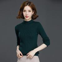 羊绒衫秋冬新款羊毛衫女士半高领毛衣套头短款修身长袖针织打底衫