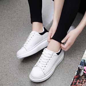 【限时特价】Q-AND/奇安达女鞋韩版系带小白鞋2018新款女士韩版潮鞋板鞋休闲百搭板鞋