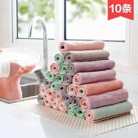 吸水洗碗布厨房清洁布毛巾10条加厚不沾油不掉毛抹布擦手巾
