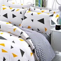 伊迪梦家纺全棉四件套三件套单人床1.2米纯棉床上用品1.5m1.8米/2.0m双人床品套件DY02