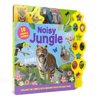 Noisy Jungle 热闹的丛林动物实景书 儿童英语启蒙百科 纸板发声书 英文单词 动物科普 3-6岁 英国原版进
