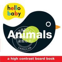 预售 英文预定 Hello Baby: Animals: A High-Contrast Board Book