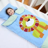 婴儿睡袋秋冬薄款四季通用儿童加厚纯棉春秋宝宝中大童防踢被神器