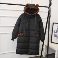 加肥加大码女装胖MM冬装新款中长款连帽棉衣厂家直销K821