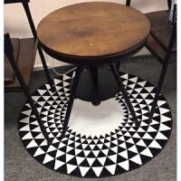 圆形地毯电脑椅垫地垫卡通儿童卧室客厅地毯80cm短绒木地板保护垫