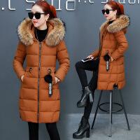 冬季新款潮棉衣女式中长款韩版长过膝百搭羽绒棉袄子外套 X