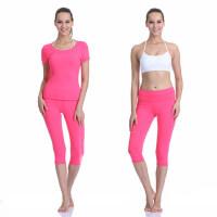 户外运动瑜伽服套装运 三件套健身舞蹈跳操服女 短袖瑜伽服