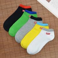 男士袜子低帮运动袜薄款短袜浅口船袜纯棉袜夏天短筒男袜 5双装【39-43码可穿】