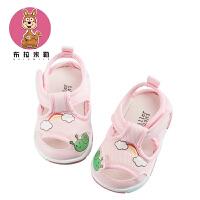 宝宝凉鞋布鞋夏6-12月婴儿凉鞋软底男女宝宝学步鞋