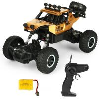 遥控汽车越野四2驱赛车无线遥控攀爬大脚车充电儿童玩具车男孩 合金越野攀爬车-金色SL-3347 默认0