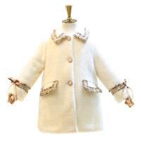 童�b秋冬新款女童小香�L毛呢大衣中小�和�名媛�L呢子外套