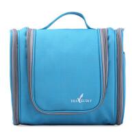 旅行洗漱包 大号旅游出差男女便携多功能收纳袋大容量防水化妆包 蓝色格子