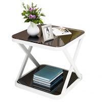 北欧迷你角几简约现代创意钢化玻璃小茶几卧室小方桌沙发边几
