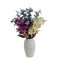 塑料花室内客厅家居摆设仿真塑料假花艺套装饰品摆件蝴蝶兰绢花盆栽餐桌