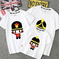 母子母女装婴儿短袖T恤 亲子装夏全家装一家三四口韩版2018新款潮