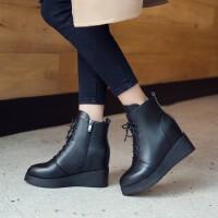 O'SHELL欧希尔新品060-7158欧美内增高女士短靴
