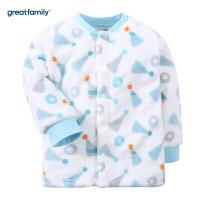 歌瑞家家居服婴儿对襟上衣2017冬新款中小童男女宝宝对开上衣乐友