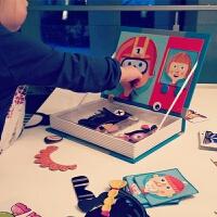 出口欧洲 儿童磁力拼图玩具男女换装宝宝益智早教 孩子磁铁书礼物 任两件 任两件
