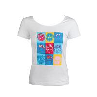 沃特运动T恤女圆领套头吸汗透气短袖上衣春夏季修身运动服