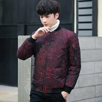 冬季新款羽绒服男士韩版修身棒球领青年加厚短款立领外套男装