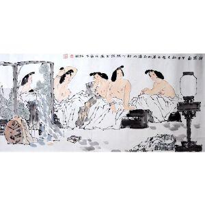 陈振国   《沐浴图》