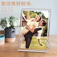 【品牌热卖】67810寸洗照片加相框摆台创意可爱相架框简约水晶亚克力相框立体