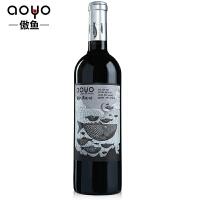 傲鱼AOYO智利原瓶进口红酒 劳尔先生精酿西拉梅洛半干红葡萄酒2018年750ml*1