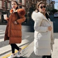 棉衣女中长款冬季韩版棉袄学生2017新款大毛领加厚保暖bf外套