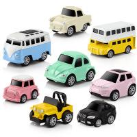 回力车1-2-3周岁宝宝合金车儿童迷你小汽车男孩惯性益智力玩具车