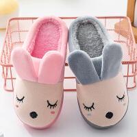 秋冬季儿童棉拖鞋男女童卡通防滑包跟棉鞋保暖毛毛鞋亲子宝宝拖鞋