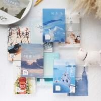 包邮明信片风景城市手绘古风动漫爱情风格创意生日卡片贺卡