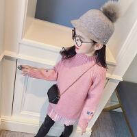 女童长款毛衣2018春季装新款童装中大童针织衫儿童打底衫