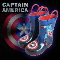 春夏儿童男童雨靴美国队长幼儿水鞋小童大童学生小孩宝宝雨鞋 美队