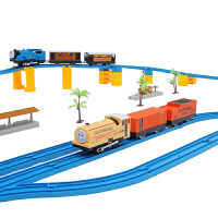 托马斯轨道火车套装 双车头电动高架桥超大型豪华儿童玩具场景游戏 轨道城市 工程设计