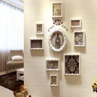 欧式实木背景照片墙客厅餐厅相框墙创意组合相片简约现代装饰挂墙