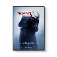 电影海报装饰画现代简约三联挂画玄关背景创意壁画蝙蝠侠黑暗骑士 70x100cm嵌框 单幅价格 黑色