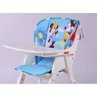 婴儿童宝宝实木餐椅套垫子连体椅子套棉垫通用型纯棉坐垫子靠背套 天