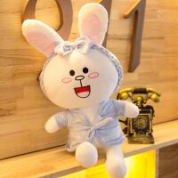 网红布朗熊公仔抱抱熊可妮兔玩偶毛绒玩具小白兔娃娃女生礼物