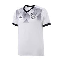 adidas阿迪达斯男装短袖T恤2018足球德国赛训练服运动服BP9161