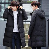 冬季羽绒服男连帽中长款韩版修身潮流男士外套加厚羽绒大衣