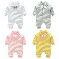 女婴儿衣服0岁3个月6男宝宝长袖哈衣爬服秋冬9新生儿连体衣春秋装